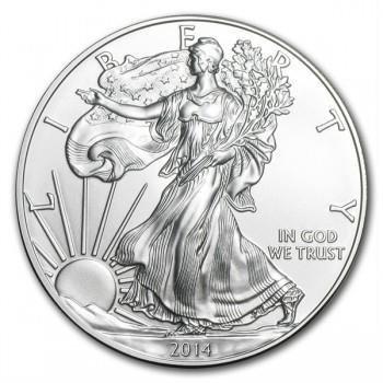 2014 American Silver Eagle Dollar Gem BU Coin