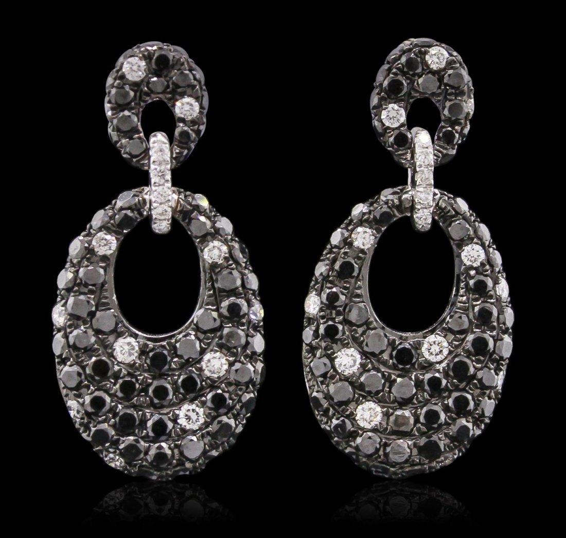 14KT White Gold 0.34ctw Diamond Earrings