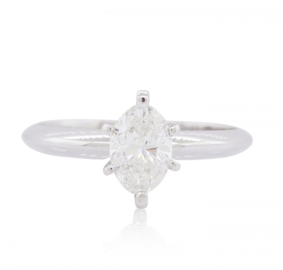 14KT White Gold 0.72ct Marquise Cut Diamond Ring