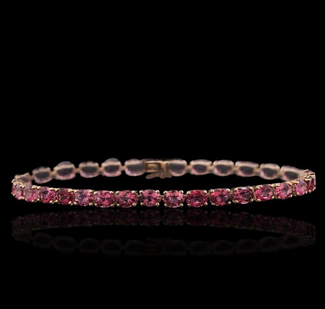 14KT Rose Gold 11.67ctw Pink Tourmaline Bracelet