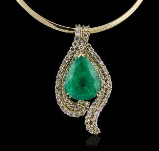 14KT-18KT Yellow Gold GIA Certified 40.62ct Emerald &