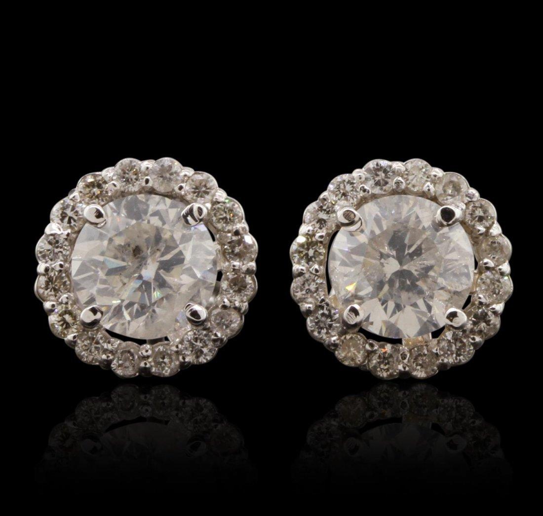 14KT White Gold 2.73ctw Diamond Earrings