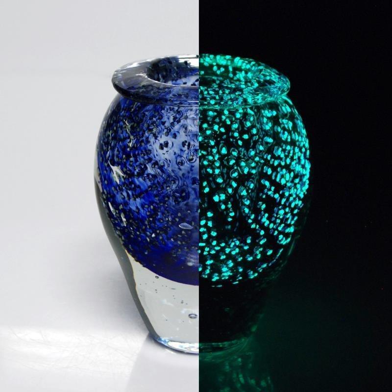 Glass Vase Sculpture By Jean Claude Novaro