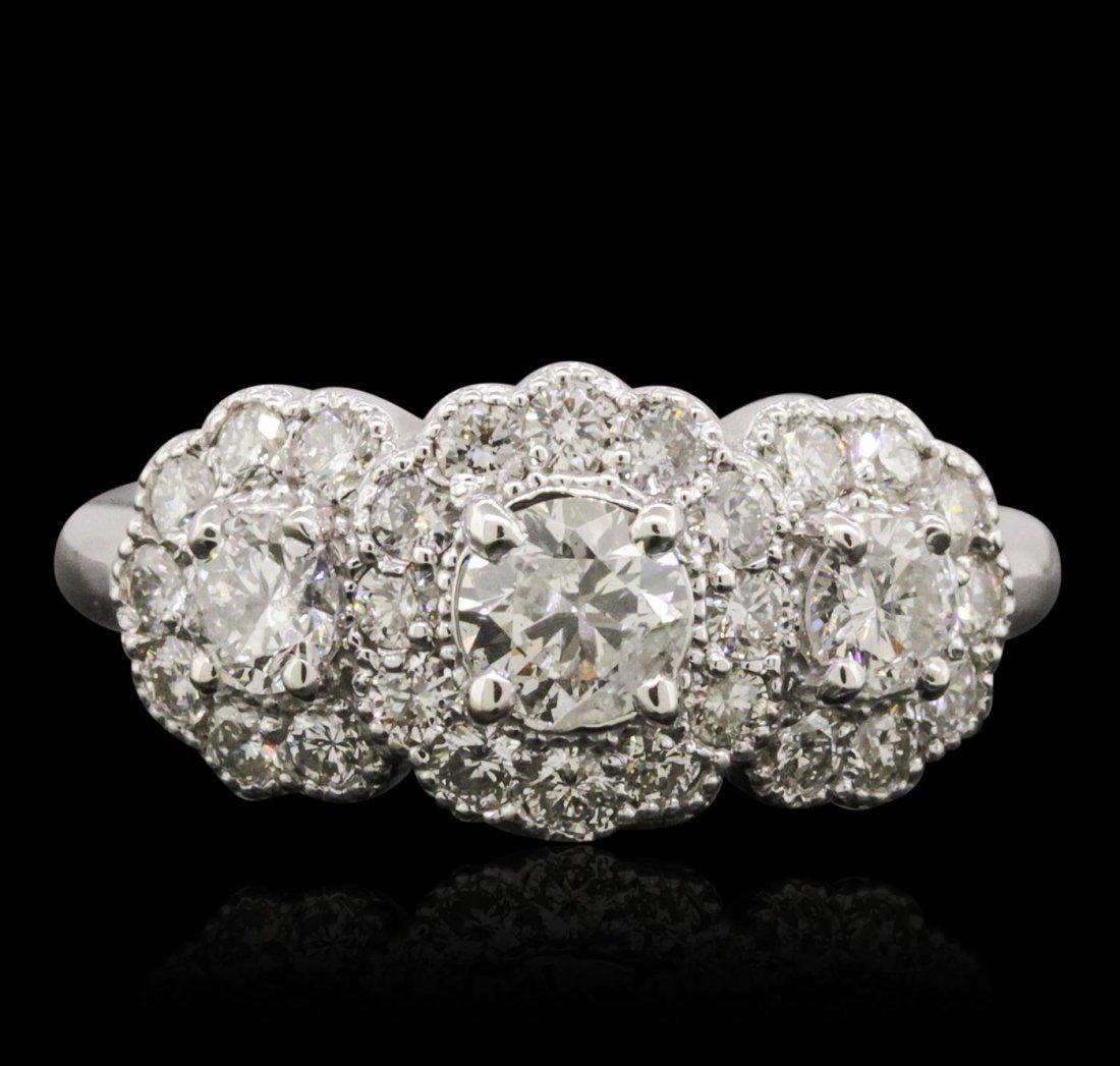 14KT White Gold 1.64ctw Diamond Ring