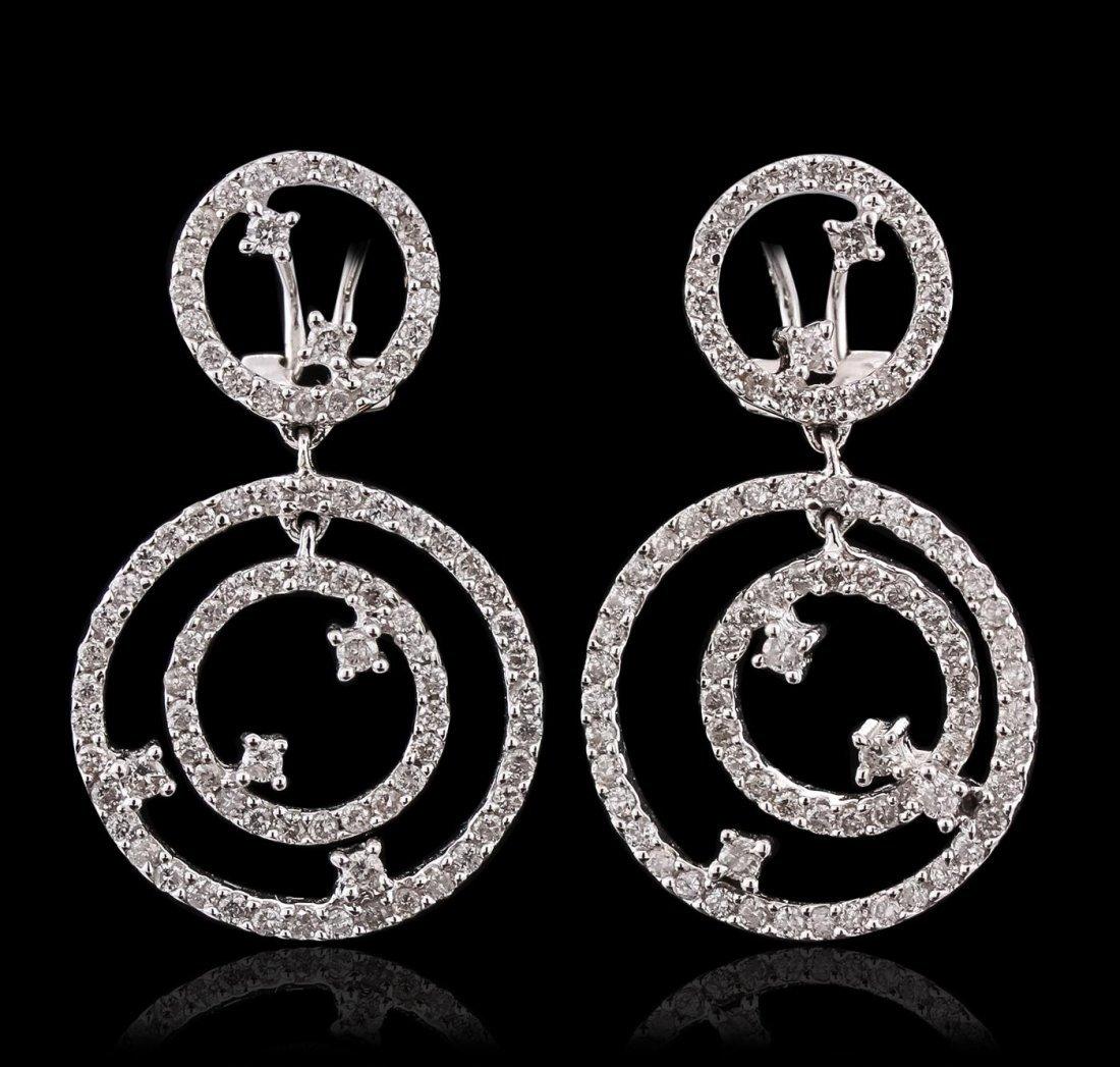 14KT White Gold 1.70ctw Diamond Earrings