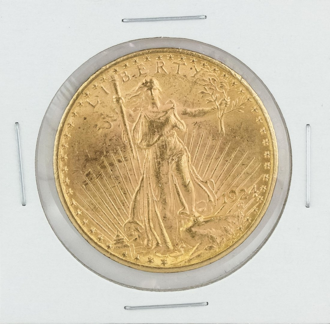 1924 $20 Double Eagle St Gaudens Gold Coin