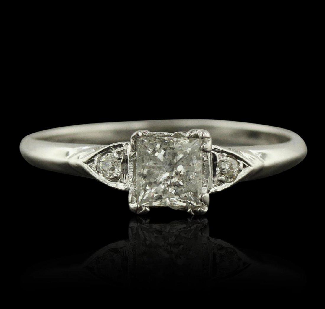 14KT White Gold 0.76ctw Diamond Ring