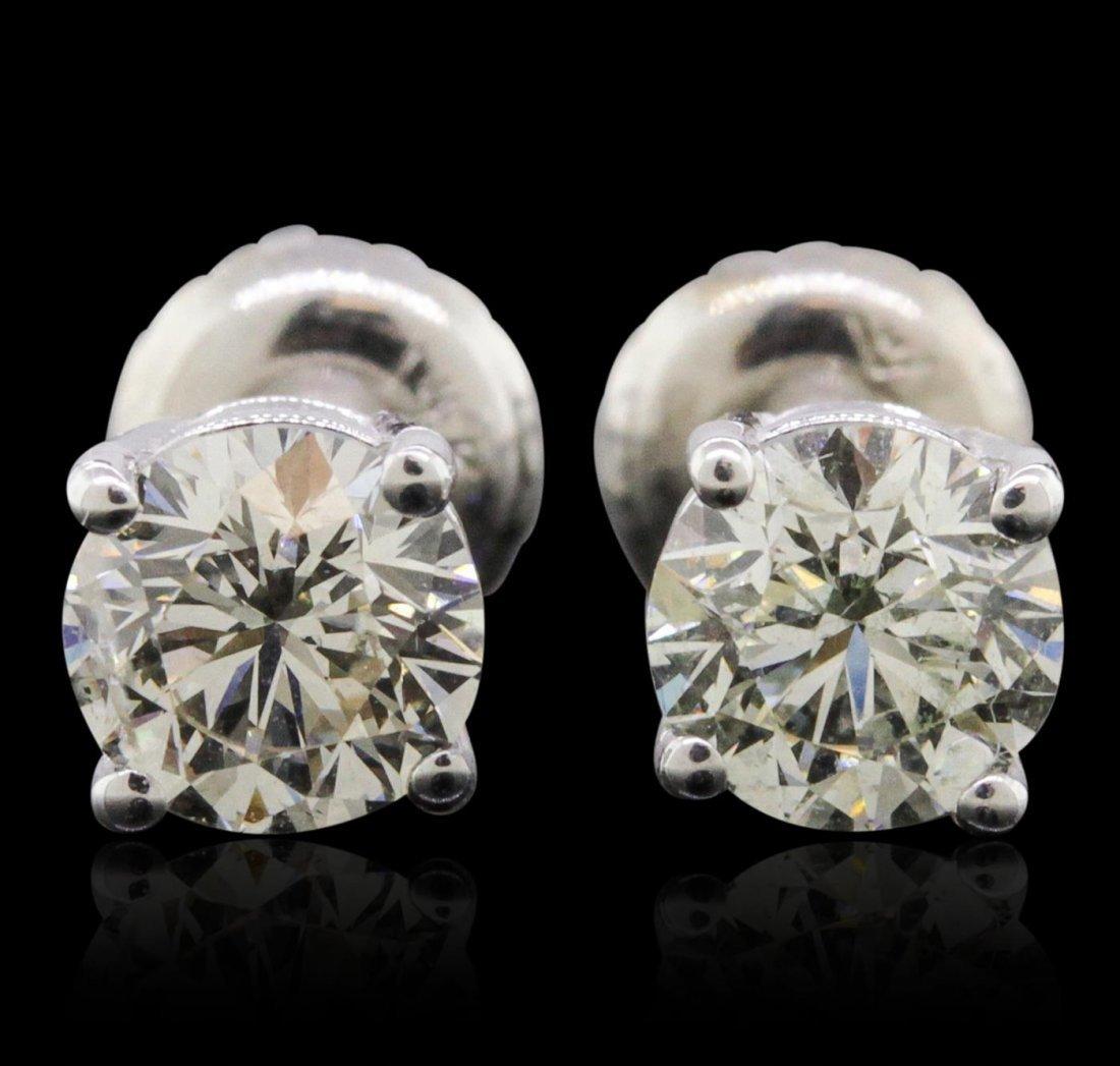14KT White Gold 1.26ctw Diamond Solitaire Earrings