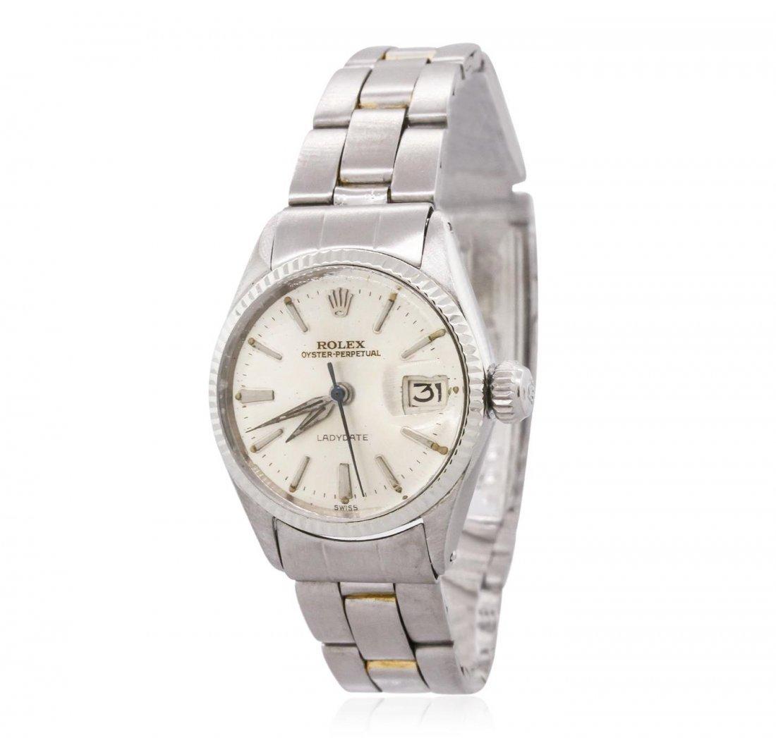 Ladies Stainless Steel Rolex Vintage Wristwatch