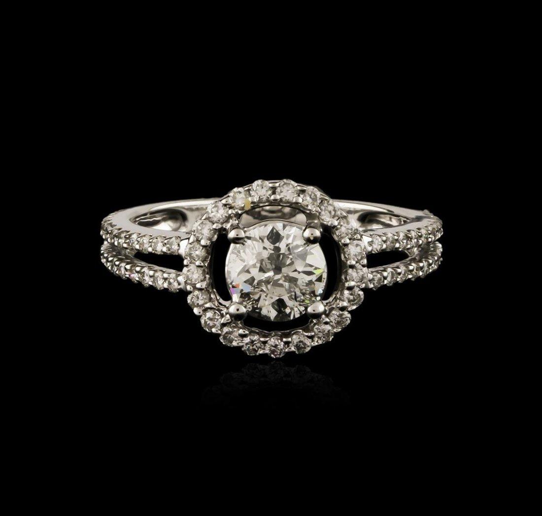 18KT White Gold 1.17ctw Diamond Ring