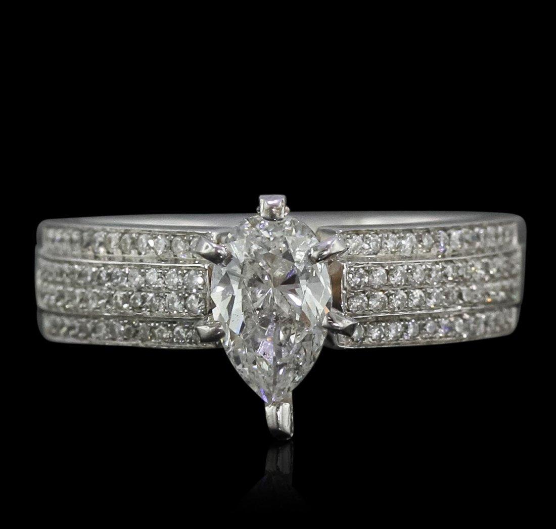 18KT White Gold EGL Certified 1.40ctw Diamond Ring
