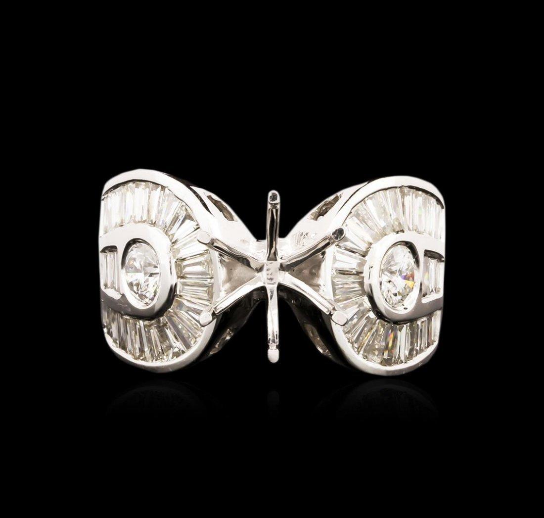 14KT White Gold 1.59ctw Diamond Semi Mount Ring Setting