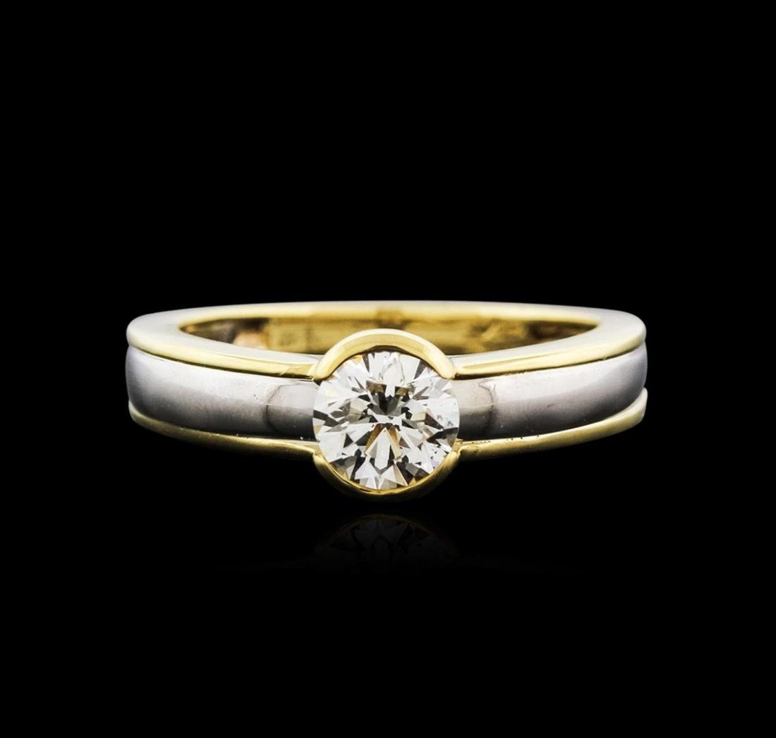 14KT Two-Tone Gold 0.50ct Diamond Solitaire Ring