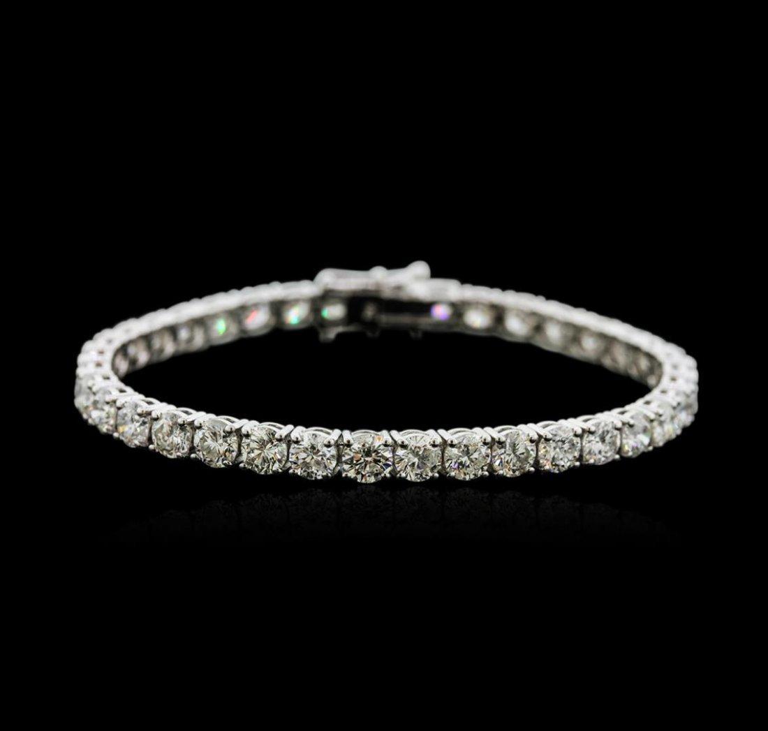18KT White Gold 15.45ctw Diamond Tennis Bracelet