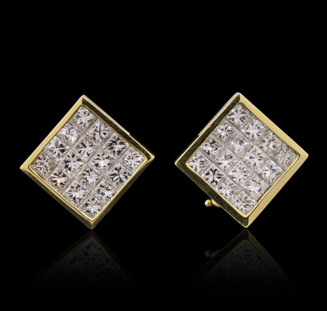 18KT Yellow Gold 2.51ctw Diamond Earrings