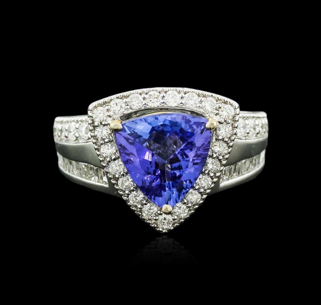 14KT White Gold 2.31ct Tanzanite and Diamond Ring