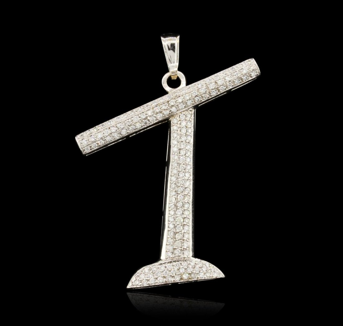 10KT White Gold 3.60ctw Diamond Pendant