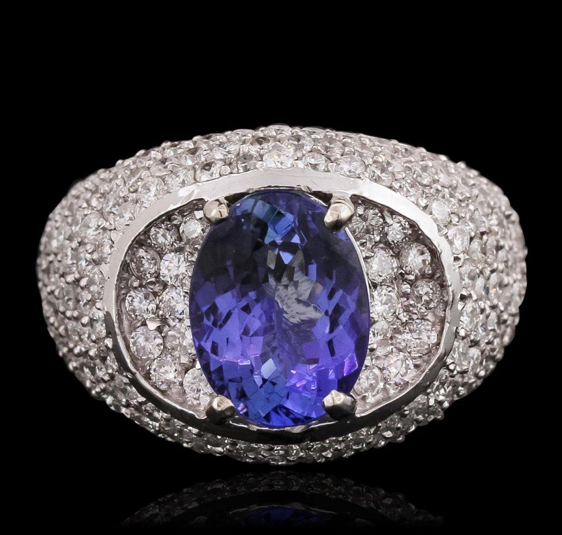 14KT White Gold 2.69ct Tanzanite and Diamond Ring