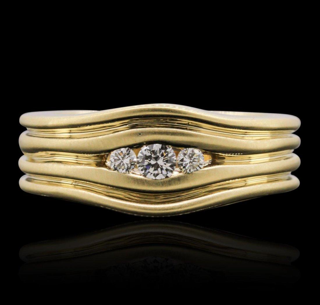 14KT Yellow Gold 0.15ctw Diamond Ring