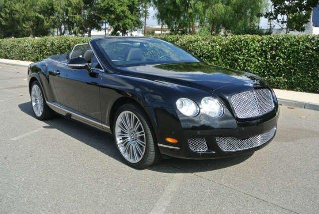 2010 Black Bentley Continental GT Convertible
