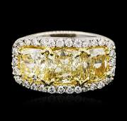 Platinum EGL USA Certified 569ctw Fancy Yellow Diamond