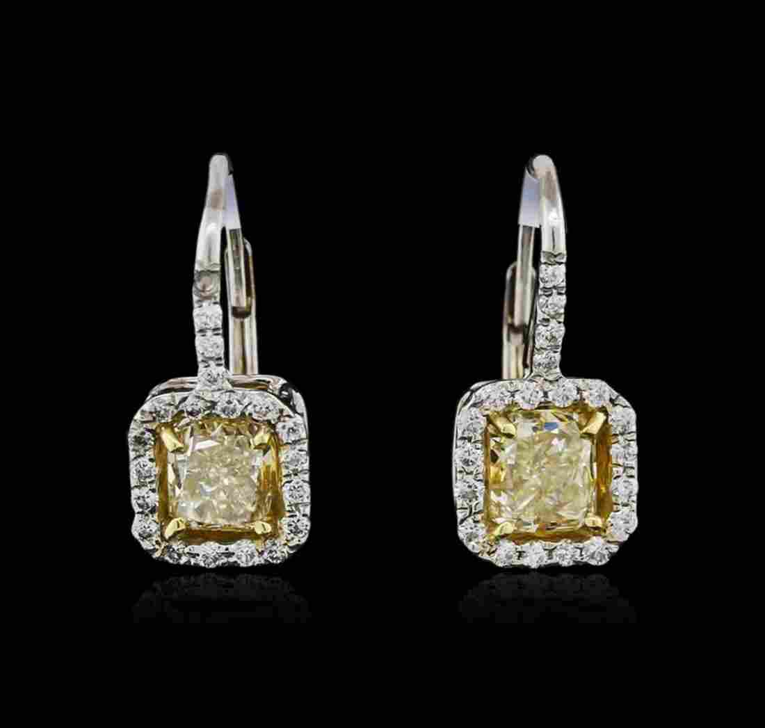 Platinum EGL USA Certified 2.44ctw Fancy Yellow Diamond