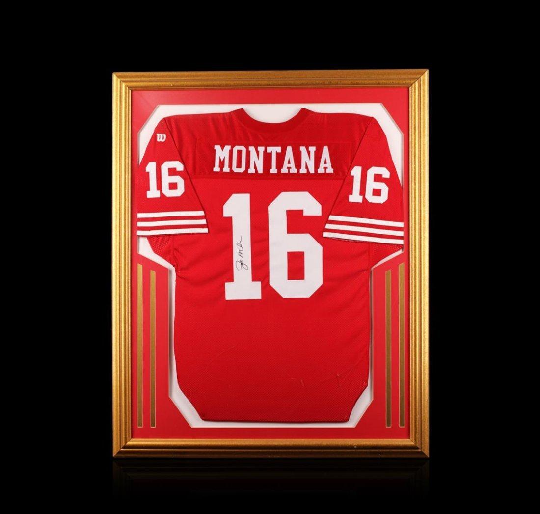 Joe Montana Framed Autographed Jersey