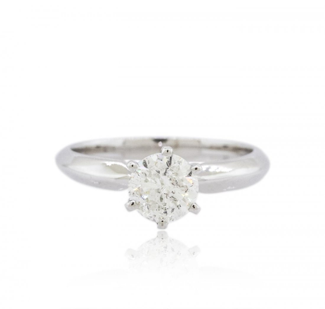 14KT White Gold 1.00ct Brilliant Cut Diamond Solitaire
