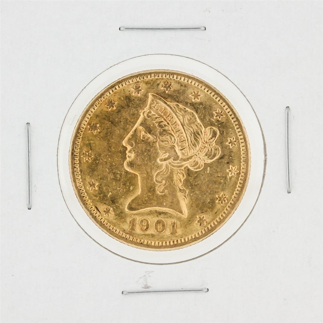 1901-S $10 AU Liberty Head Eagle Coin