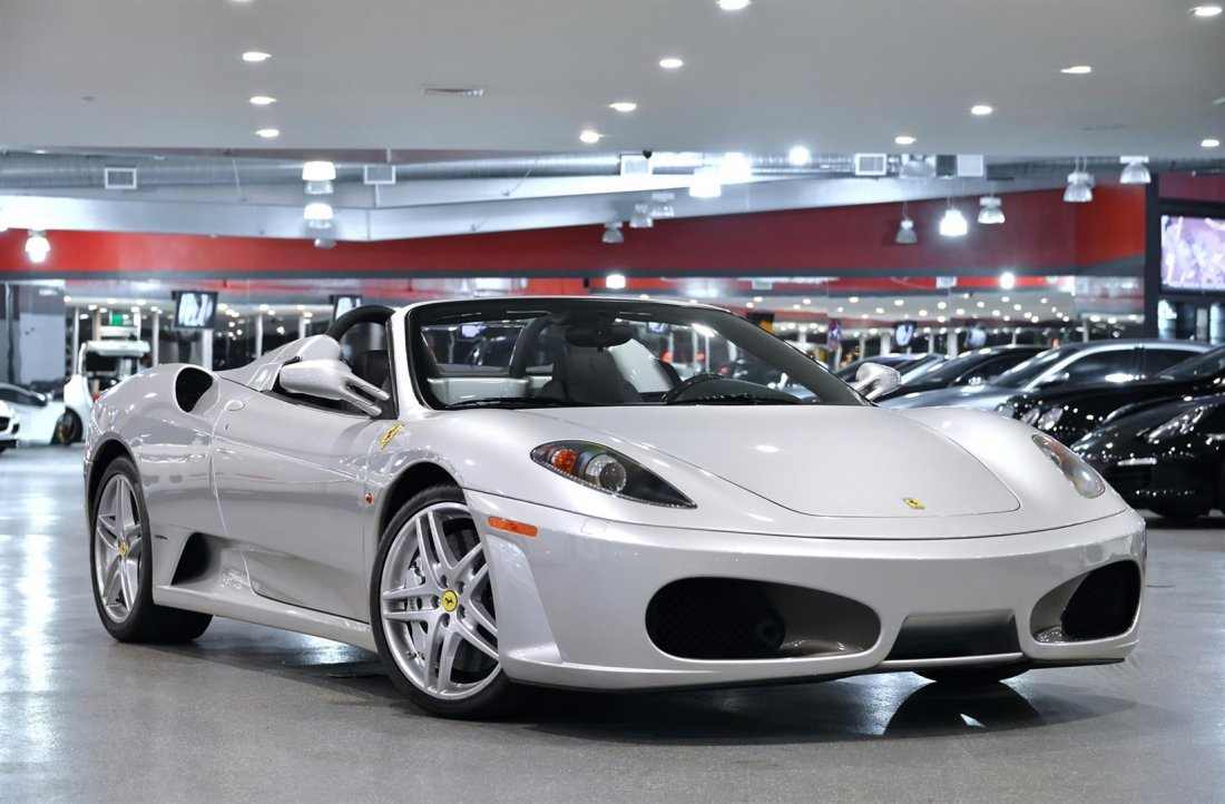 2006 Silver Ferrari F430 Spider F1 Convertible