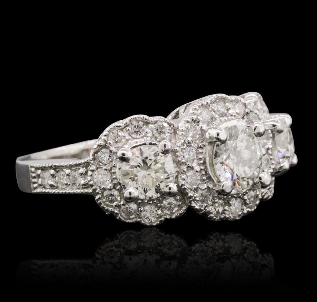 14KT White Gold 1.96ctw Diamond Ring