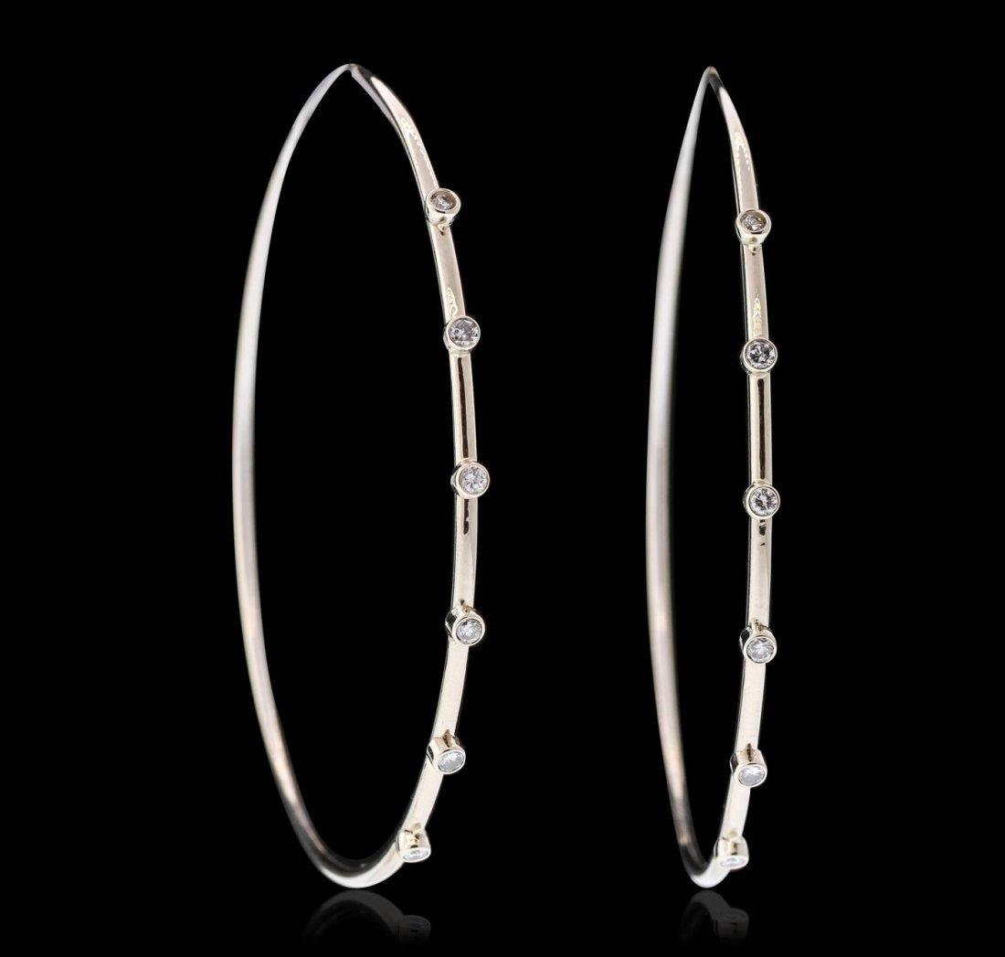 18KT White Gold 1.19ctw Diamond Earrings