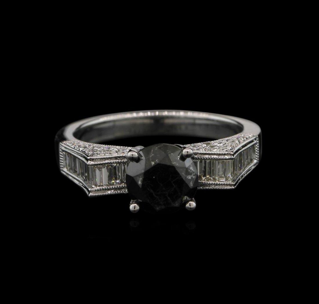 2.61ctw Black Diamond Ring - 18KT White Gold