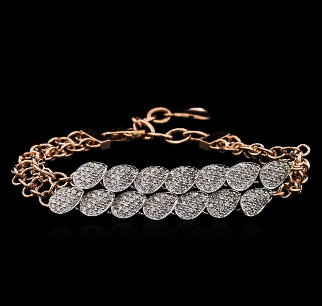 1.84ctw Diamond Bracelet - 14KT Two-Tone Gold