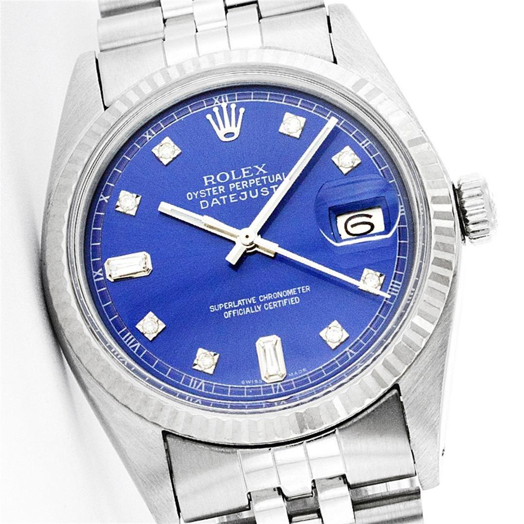 Rolex Stainless Steel Baguette Diamond DateJust Men's