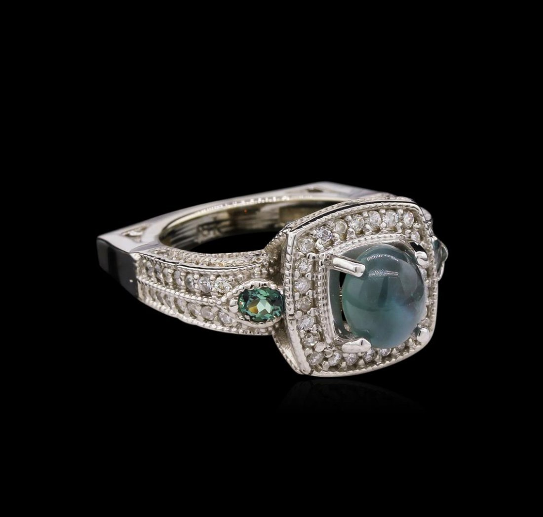 2.66ct Alexandrite and Diamond Ring - 18KT White Gold