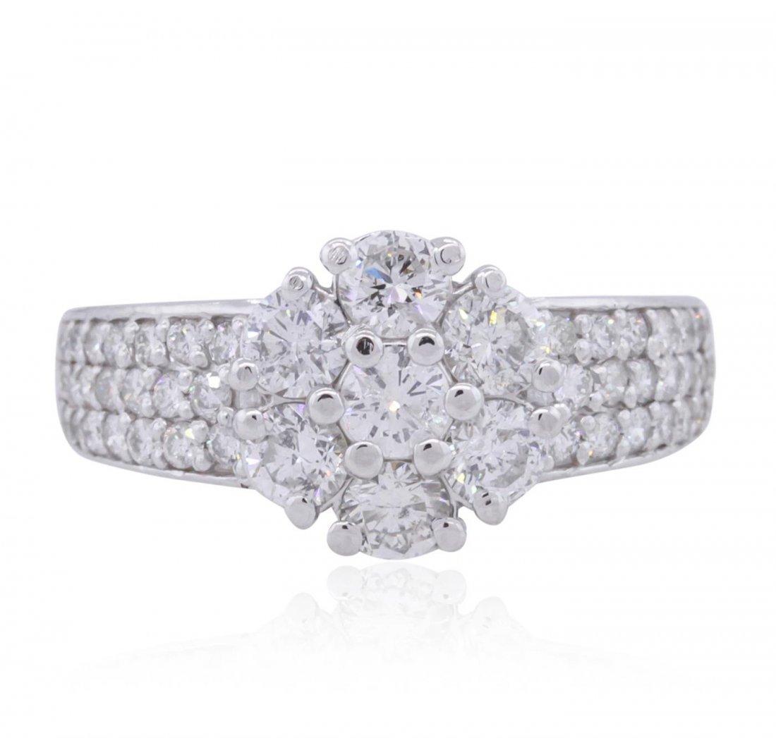 14KT White Gold 1.32ctw Diamond Ring