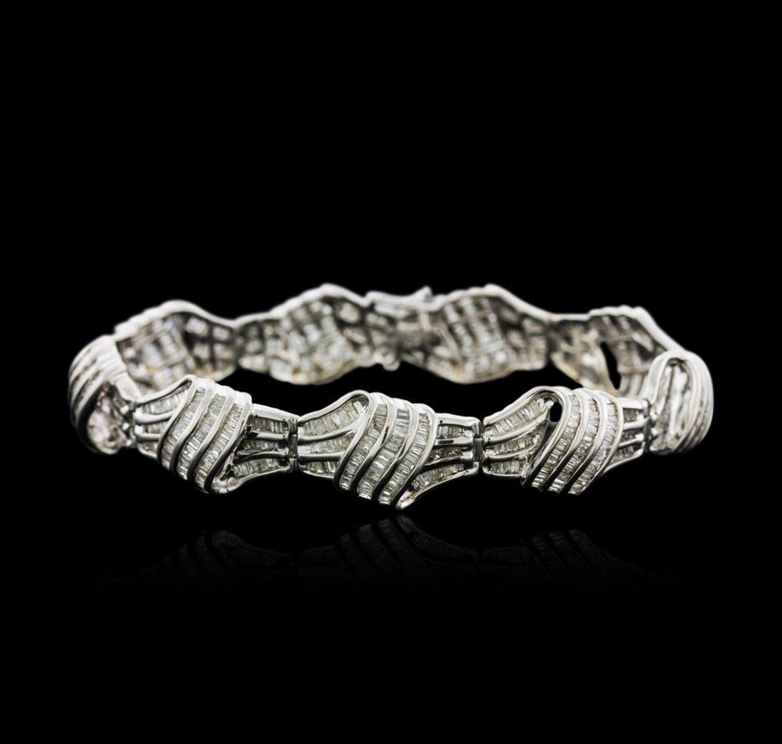 14KT White Gold 6.72ctw Diamond Bracelet