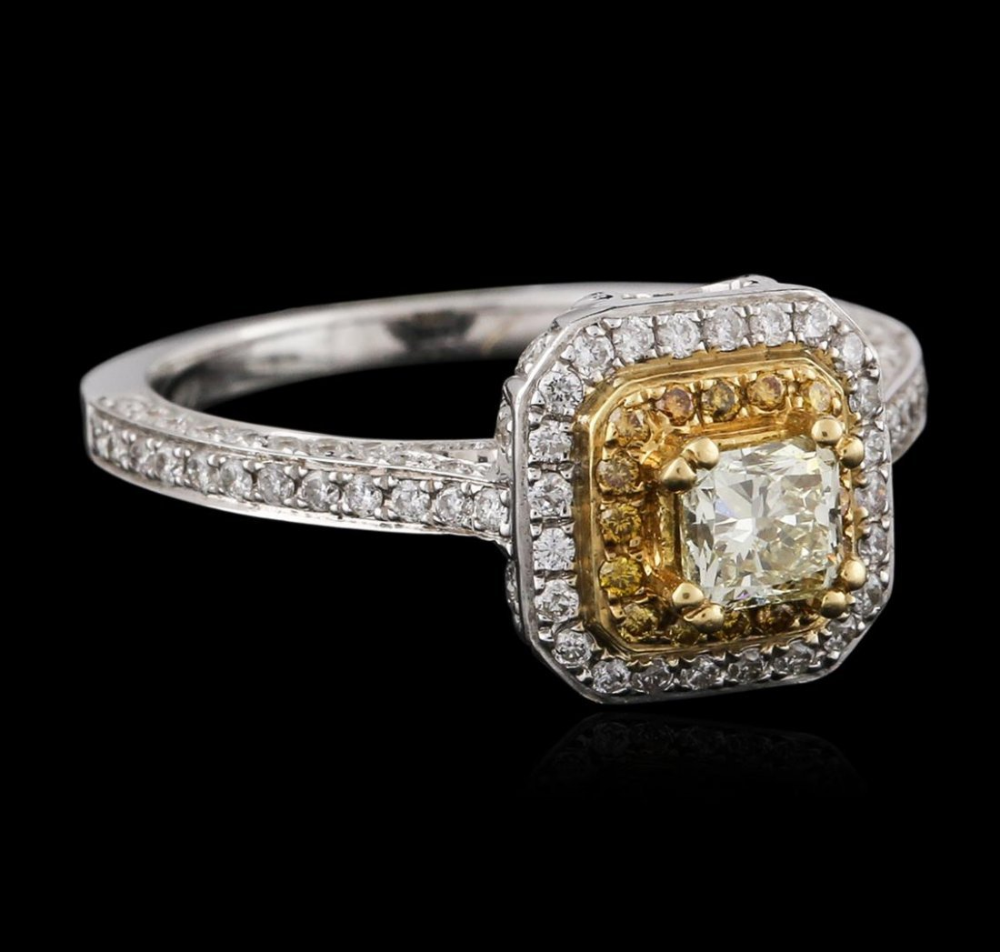 18KT Two-Tone Gold 0.89ctw Diamond Ring