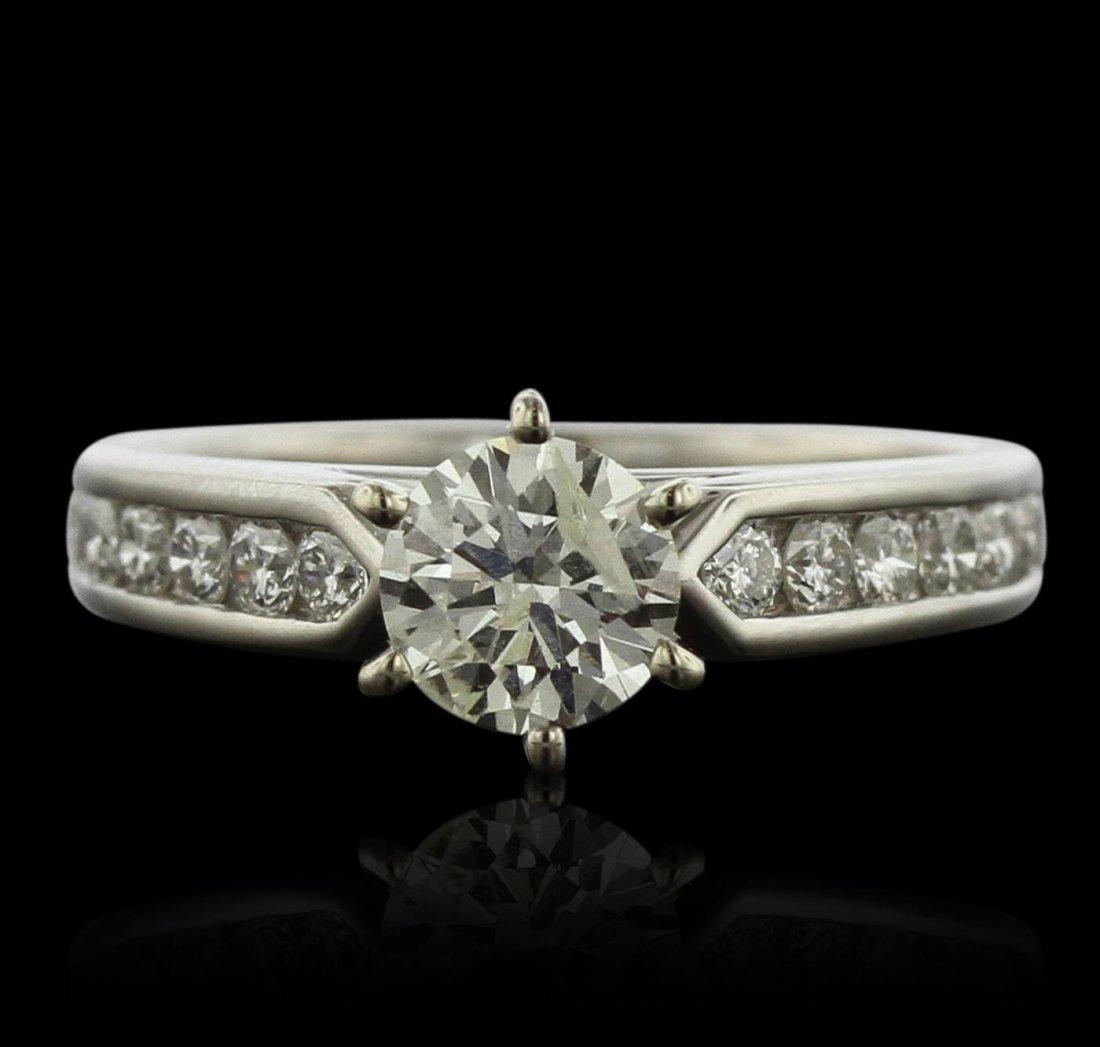 Palladium 1.42ctw Diamond Ring