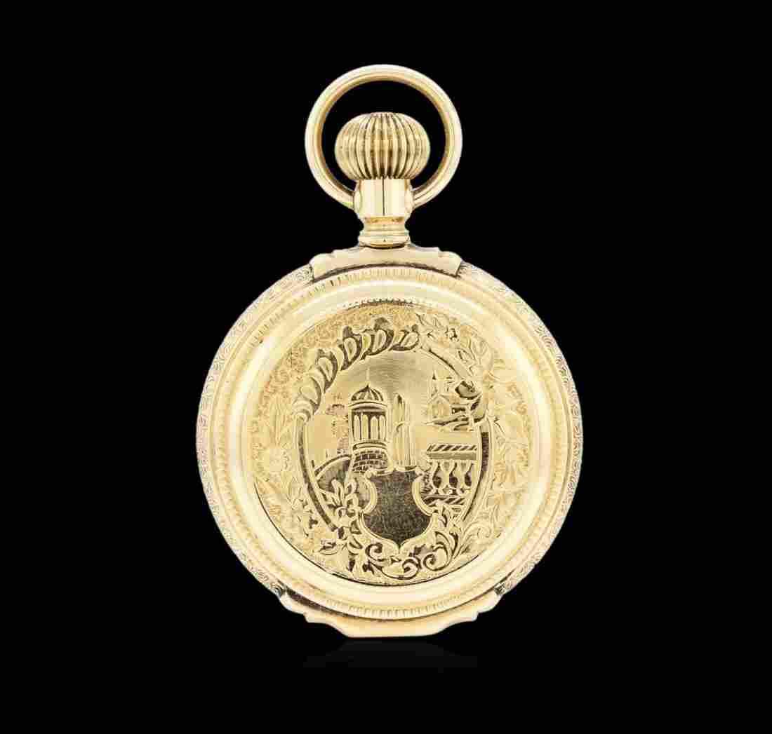 Waltham 14KT Yellow Gold Hunter Style Pocket Watch