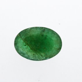 4.5ct. One Oval Cut Natural Emerald
