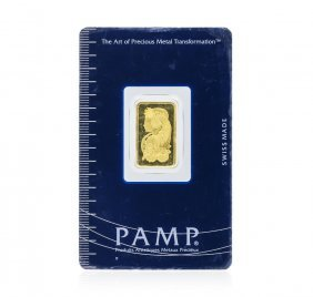 5 Gram Gold Bar - Pamp Suisse Lady Fortuna 999.9 Fine