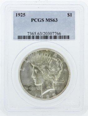 1925 Pcgs Ms63 Morgan Silver Dollar