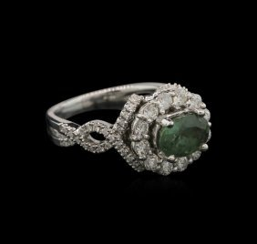 1.74ct Alexandrite And Diamond Ring - 18kt White Gold