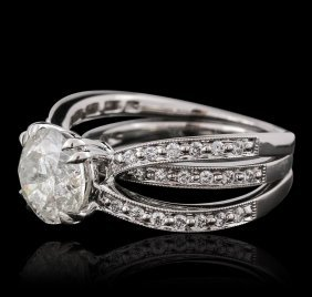 18kt White Gold 3.66ctw Diamond Ring Wedding Set