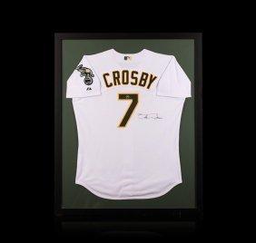 Bobby Crosby Framed Autographed Jersey