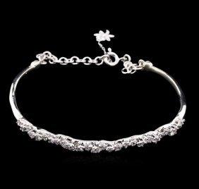0.87ctw Diamond Bracelet - 14kt White Gold