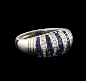 14kt White Gold 1.43ctw Sapphire And Diamond Ring
