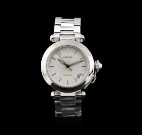 Pasha De Cartier Stainless Steel Watch